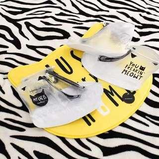 [現貨]防滑加厚耐磨透明雨鞋套/防水雨鞋/下雨天神器
