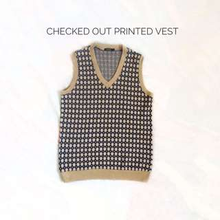 Checked Out Printed Vest