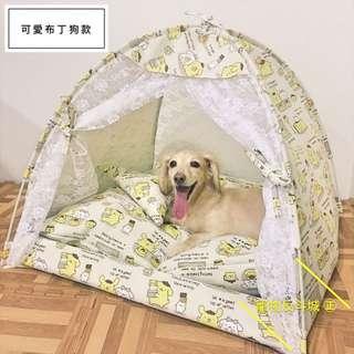 [可愛布丁狗款]L號 含內枕 寵物帳篷/寵物床/寵物窩
