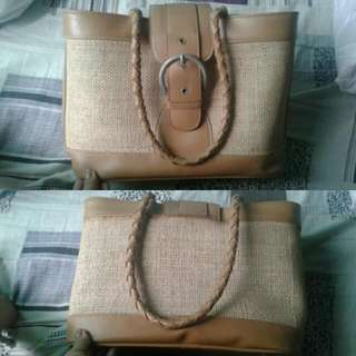 Leather Knitted Bag