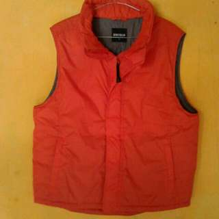 Vest Uniqlo Orange Original Size M