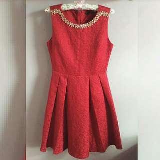 Premium Quality Elegant Red Dress
