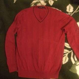 Red Nautica Sweater