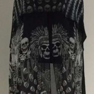 """Camilla Size 1 """"state Of Anxiety """" Silk Long Sheer Tank Top"""