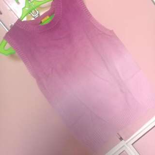 Pink Ombre Sleeveless Top