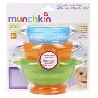 Munchkin Suction Bowl Pack of 3