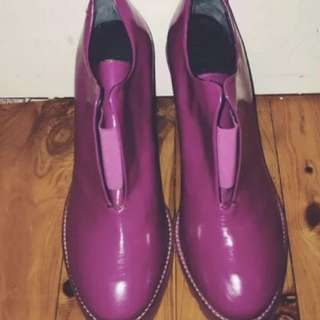 Acne Made In Italy Pink Leather Heels Size 39/9 RRP $850