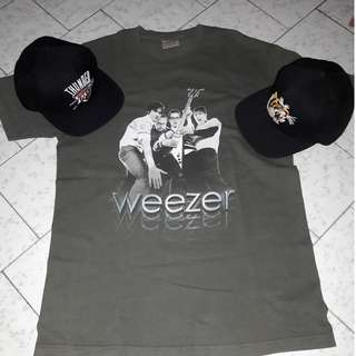 Kaos Band Weezer, Snapback 10 Deep, Snapback Mitchell & Ness