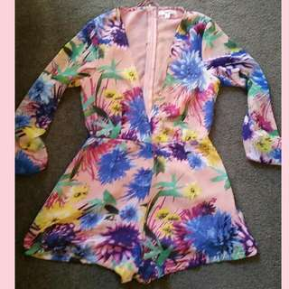 Long-sleeved playsuit Size 6