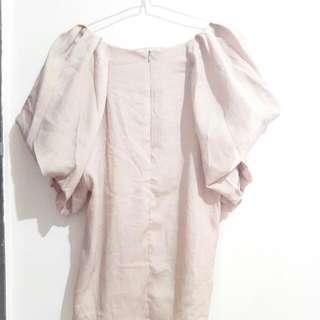 2 Pcs Baju Warna Nude Dan White Ukuran All Size