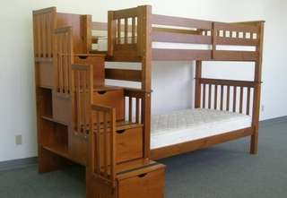 Espresso Kids Bunkbed Full of Storage Factory Price