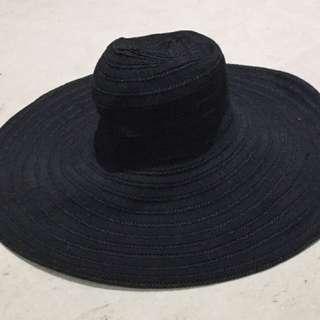 Mimco Large Black Sun Hat
