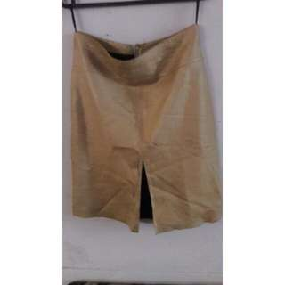 Skirt Bebe Kulit Gold Size 4