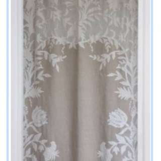 French Tie Top Linen Curtains
