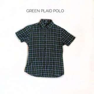 Green Plaid Polo