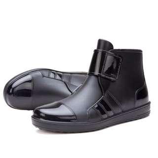 時尚雨鞋黑款