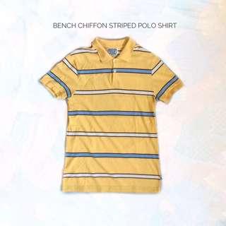 Bench Chiffon Striped Polo Shirt
