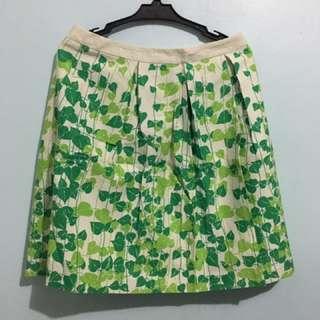 Floral Green Skirt