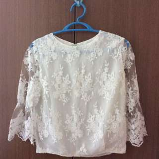 [NEW] Lace 3/4 Long Sleeve Top