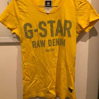G-star Raw Yellow Tahirt