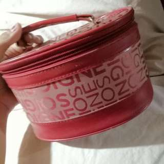 RED MAKE UP BAG*repriced*
