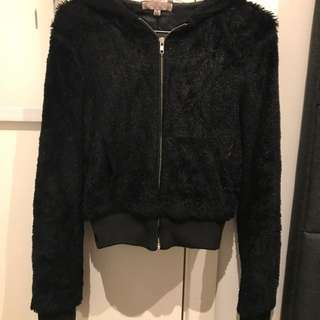 Tempt Fur Bomber Jacket