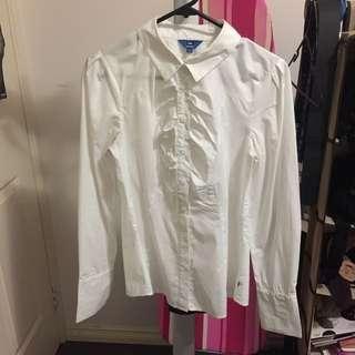 Cue White Shirt Size 8