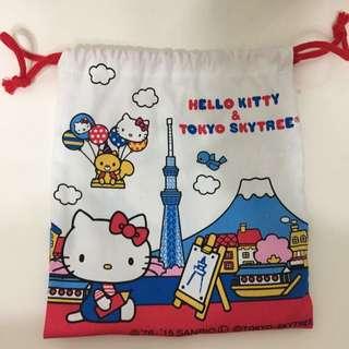 晴空塔kitty束口袋