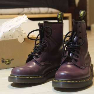 Doc Mart/Dr. Martens Women's 1460 Smooth (Purple) - AUTHENTIC