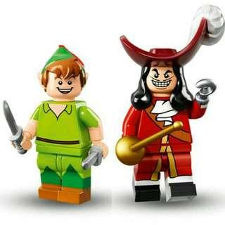Lego Minifigures Disney Series - Peterpan And Captain Hook