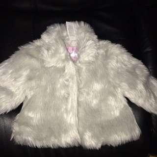 Coat/Jacket Sliver Faux Fur