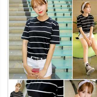 Ulzzang Stripes Tee
