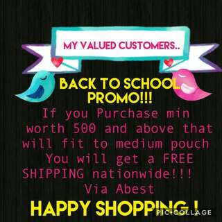 Back To School Promo!!! June 03-28,17 Only