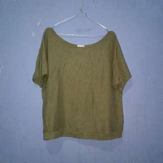 baju rajut hijauu