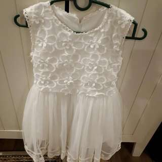 Princess White Dress For 5-6years Old