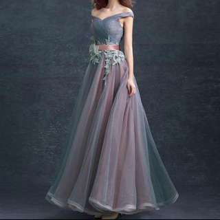 [FOR RENT] Off Shoulder Winter Ball Gown/Prom Dress