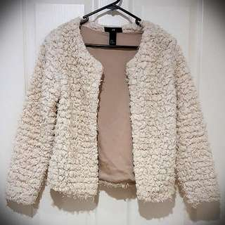 Fluffy Open Front Cardigan