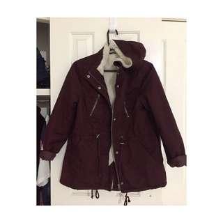 Maroon Parka Jacket | Size 12