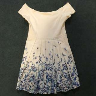 Forever New Blue and White Dress