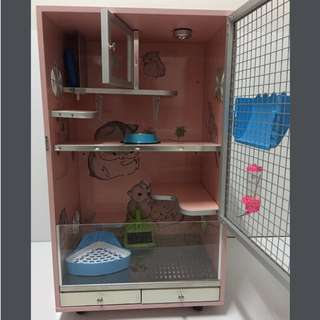 Chinchilla Cage Two Tier (Wood)