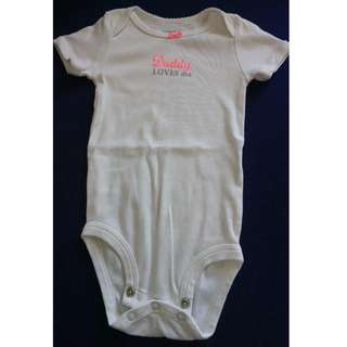 Carter's Onesie/Hush Hush Top