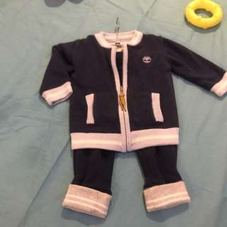 Original Timberland Baby Tracksuit Set With Reversible Jumper