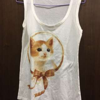 貓貓圓領棉背心