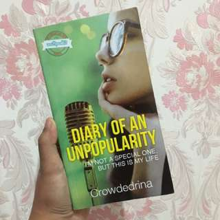 DIARY OF AN UNPOPULARITY WITH AUTOGRAPH AUTHOR