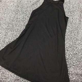 黑色入膊連身裙
