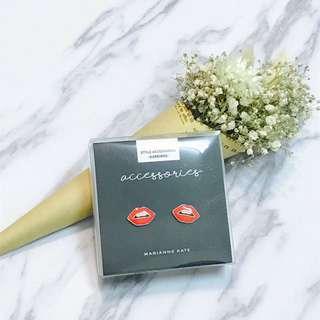 [韓國]性感紅唇💋純銀耳環