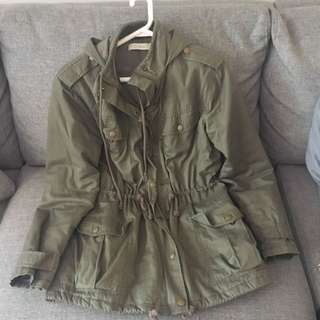 Costa Blanca Army Green Anorak/military Jacket