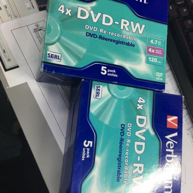 2 Box of Verbatim DVD Rewritable (DVD -RW)