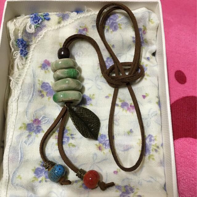💖💖日韓礦石皮革長鏈(不含搭配服裝)