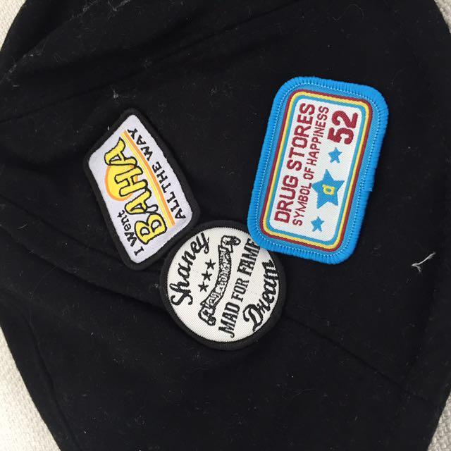 黑色拼貼帽帽🎩